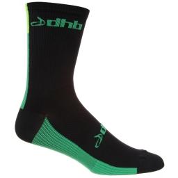 dhb-Aeron-13cm-Sock-Cycling-Socks-Black-Green-SS16-NU0362